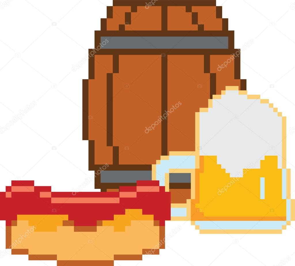 8 Bit clipart glass © style and beer bit
