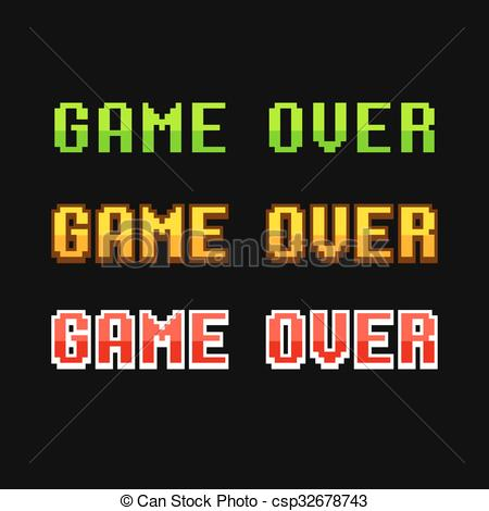 8 Bit clipart old school Game EPS over csp32678743