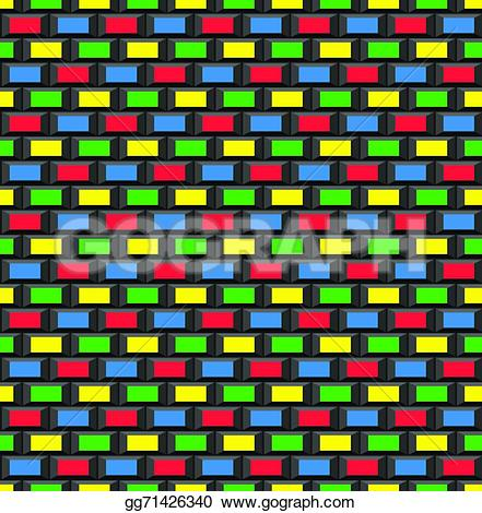 8 Bit clipart old school Vector brick Clipart brick bit