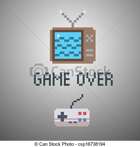 8 Bit clipart old school Vector bit game 8 csp16738194