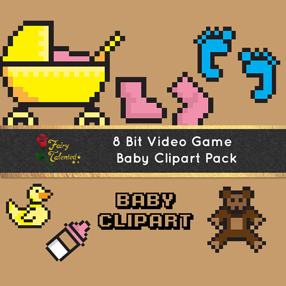 8 Bit clipart original For Party Clipart Clip Bit