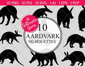 Aardvark clipart Aardvark Silhouette PNGs PNGs Silhouettes Clipart EPS