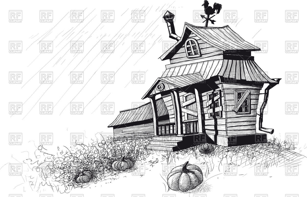 Cabin clipart old house Wooden snow clipart house old