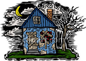 Mansion clipart abandoned house  Clipart Abandoned Sign