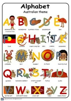 141 Australian Alphabet Australian Poster