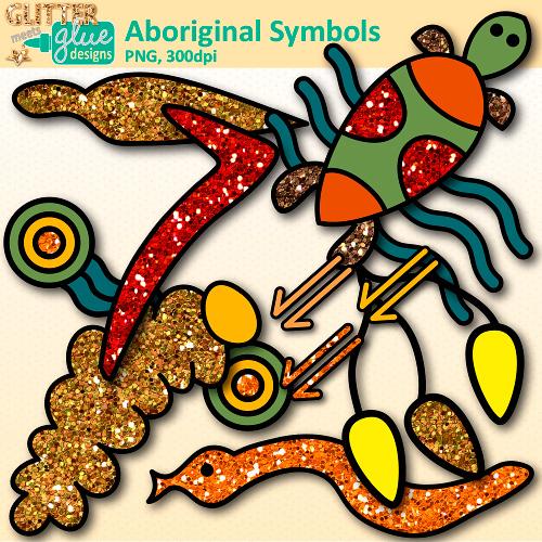 Glitter australia clip Graphics aboriginal