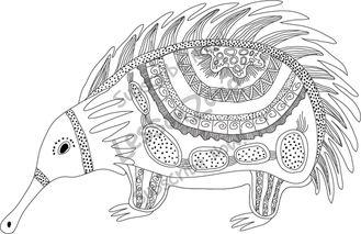 Wombat clipart aboriginal art Indigenous AU Zone Lesson B&W