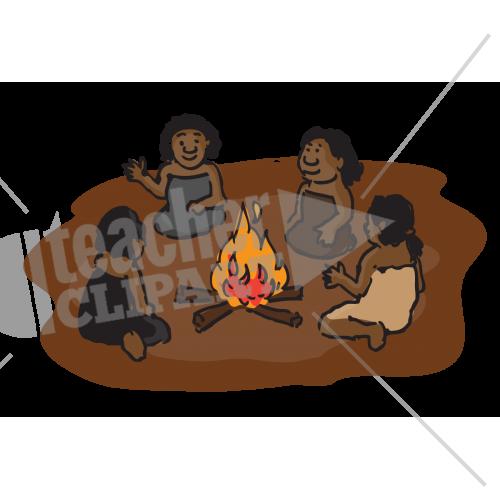 Aborigines clipart campfire Png women around aboriginal 6744