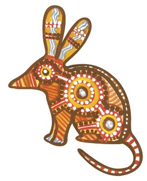 Wombat clipart aboriginal art Australian on Pages Walkabout on