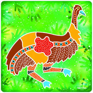Aboriginal clipart emu Aboriginal Jigsaw and Jigsaw Aboriginal