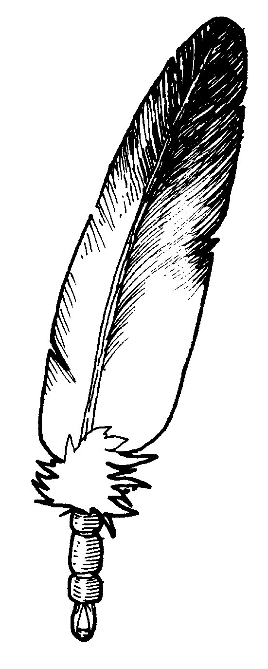 Drawn feather Native clip clipart image Collection