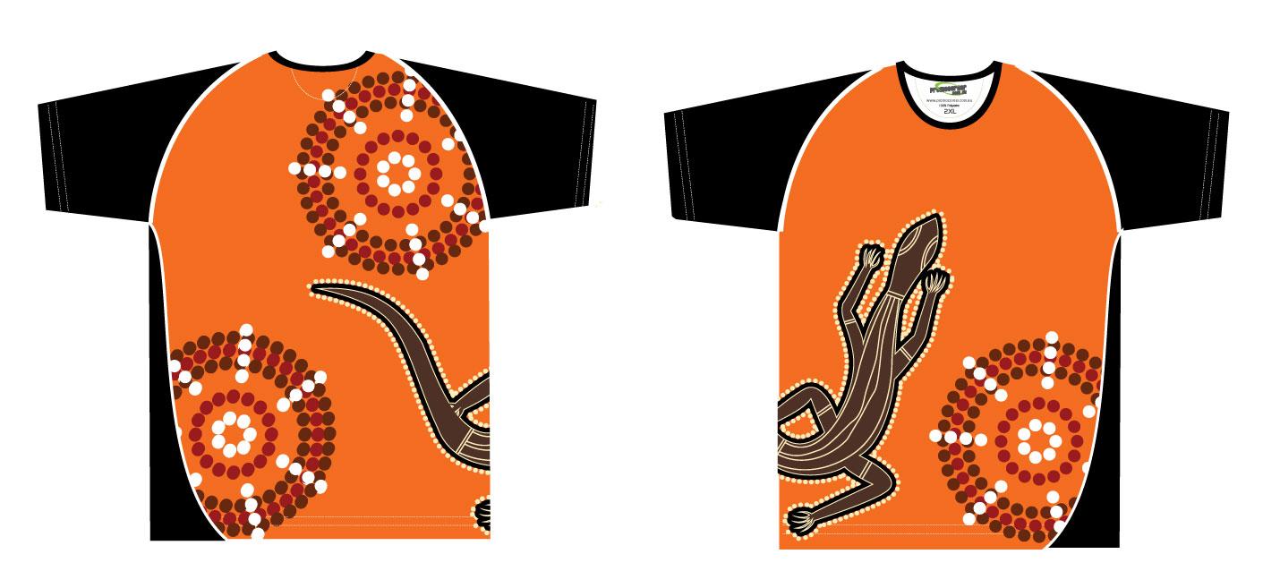 Aborigines clipart goanna  Polo Aboriginal Clothing Indigenous