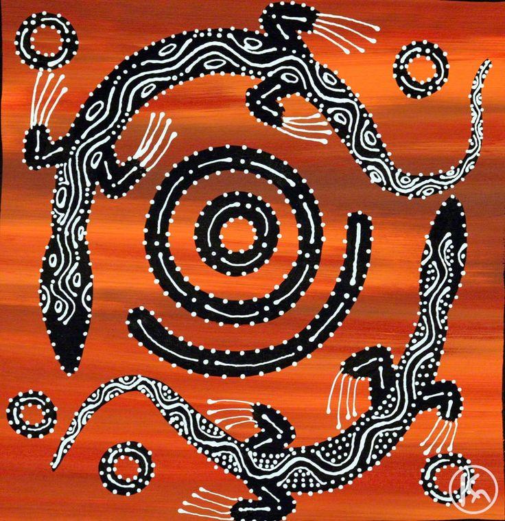 Aborigines clipart goanna At depicts Burgoyne Judda artwork