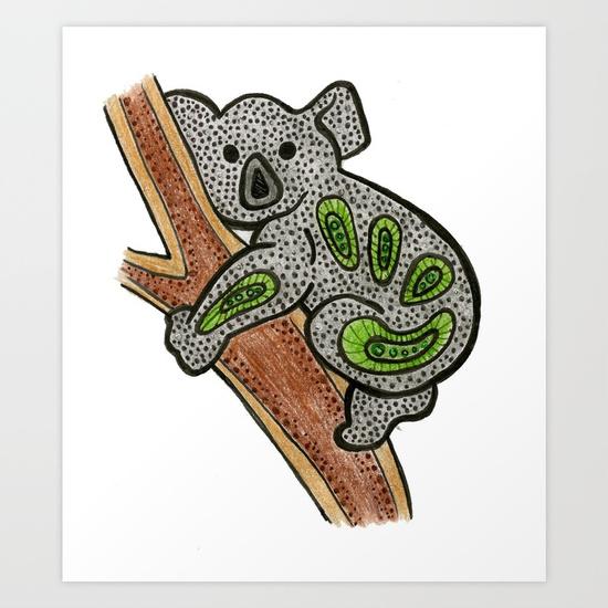 Koala Aboriginal Print Sammyspac Print
