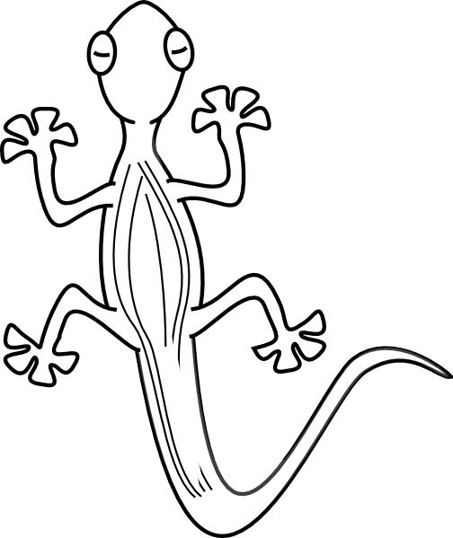 Drawn reptile simple Black And Clipart Lizard Free