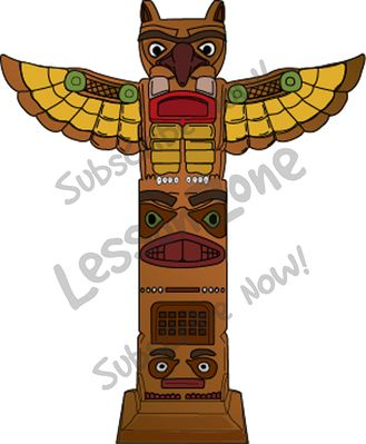 Totem Pole clipart simple Totem Topics NZ Aztec Thematic