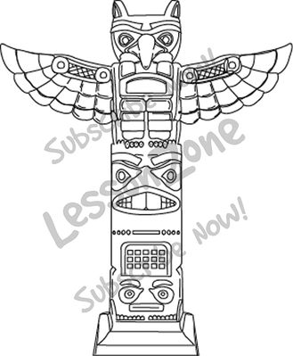 Totem Pole clipart simple Totem Thematic Zone Topics Aztec