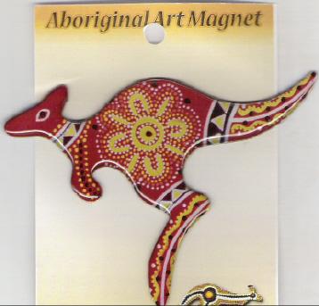 Drawn kangaroo black and white LARGE DESIGN MAGNET FRIDGE DESIGN