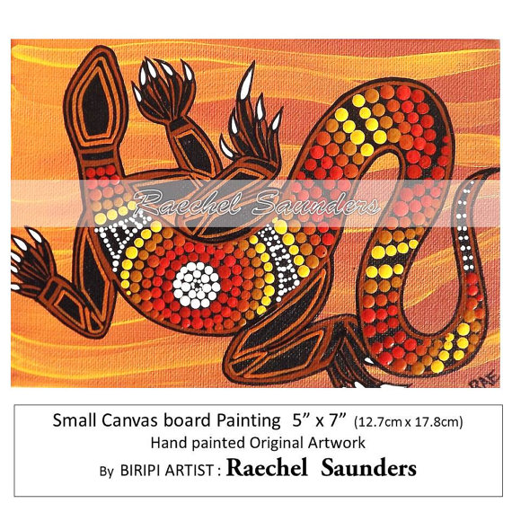 Aborigines clipart goanna Canvas Acrylic Goanna or Original