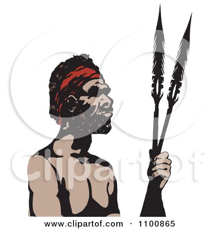 Aborigines clipart spear #5