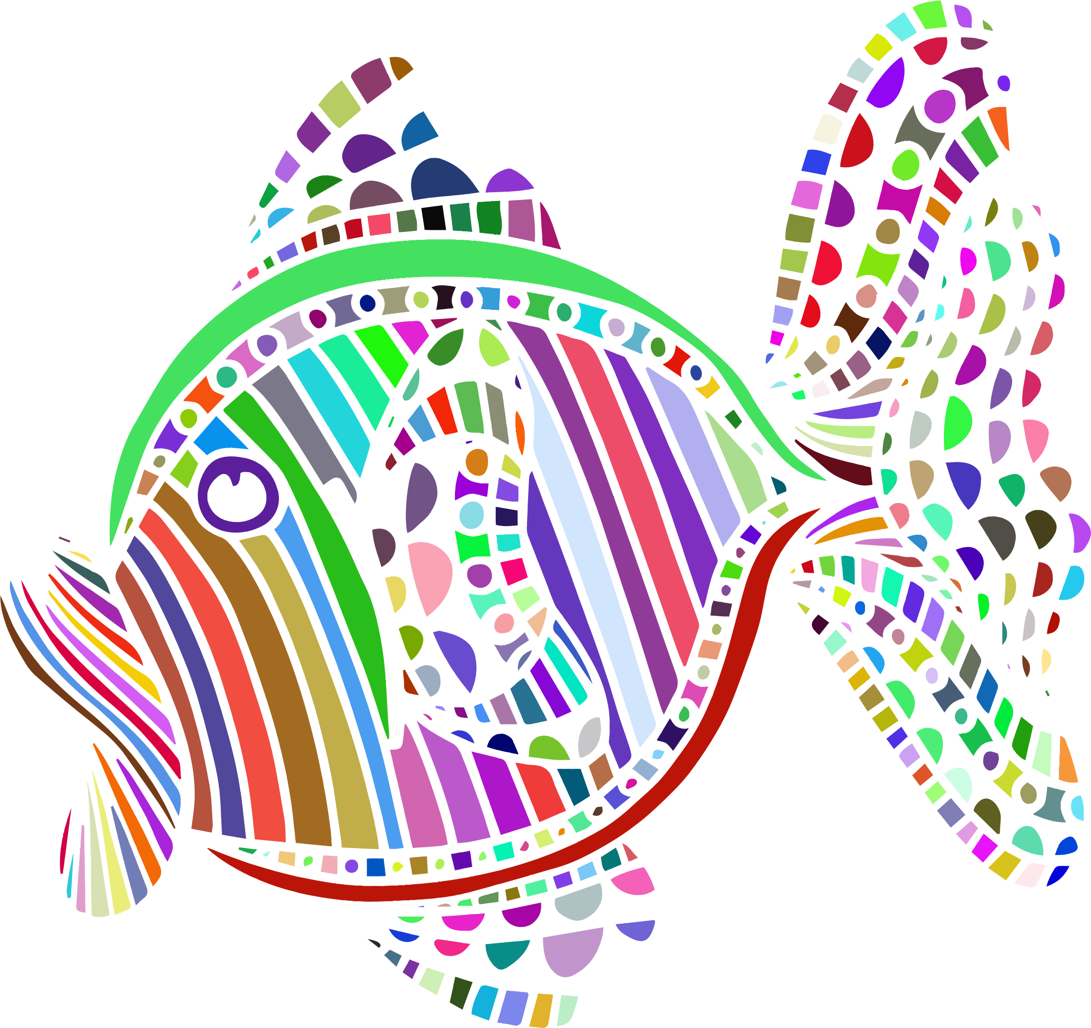 Abstract clipart The Clipart fish image colorful