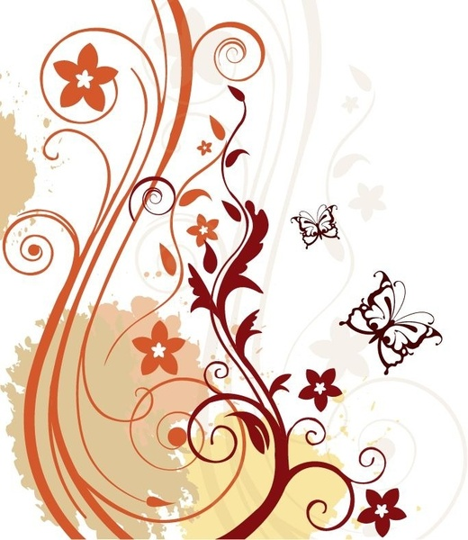 Abstract clipart abstract floral Floral download (19 Vector vector