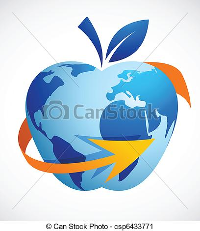 Abstract clipart apple Csp6433771  Vector abstract The