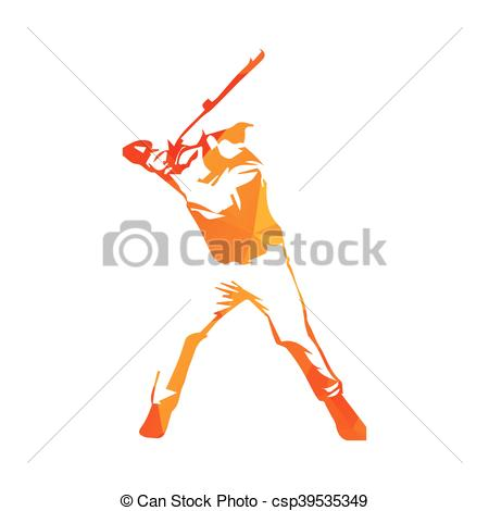 Baseball clipart baseball hit Orange player csp39535349 vector of