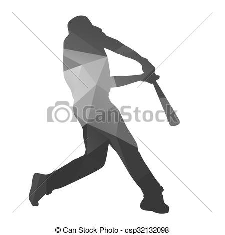 Baseball clipart baseball hit Csp32132098 player Clip baseball EPS