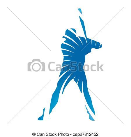Baseball clipart frame Figure baseball Abstract blue baseball