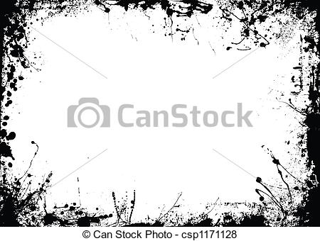 Abstract clipart border Stock white rough and rough