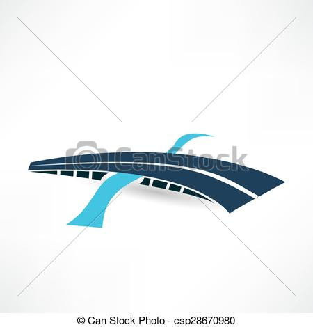 Abstract clipart bridge Icon Art Vector csp28670980 bridge