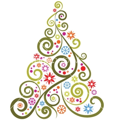 Abstract clipart christmas ornament Abstractchristmas tree clipart tree clipart