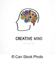 Abstract clipart creative mind Creative icon colorful symbol