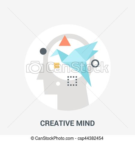 Abstract clipart creative mind Vector concept icon mind vector