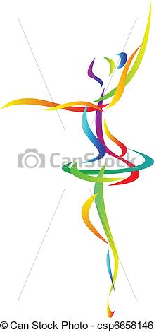 Abstract clipart dancer Illustration ballet abstract Vector Art
