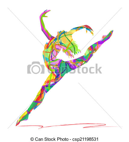 Abstract clipart dancer Background on dancers dance abstract