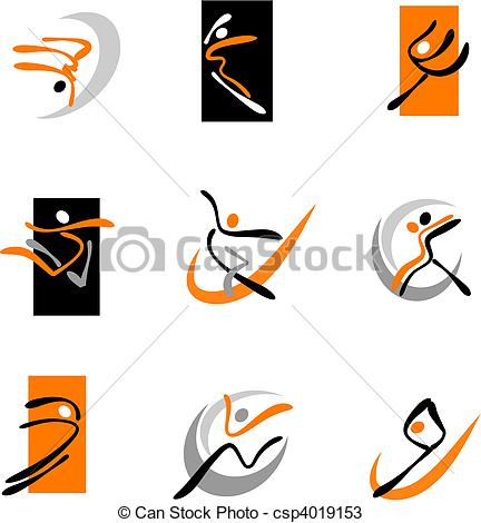 Abstract clipart dancer Dancing Collection 1 Abstract of