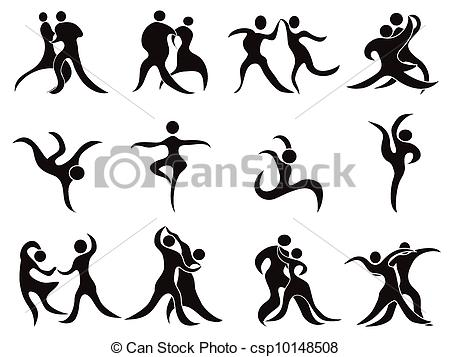 Abstract clipart dancer Isolated of collection Clipart Vector
