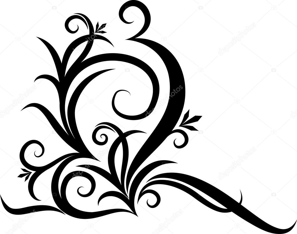 Abstract clipart decorative corner Stock by Vector corner —
