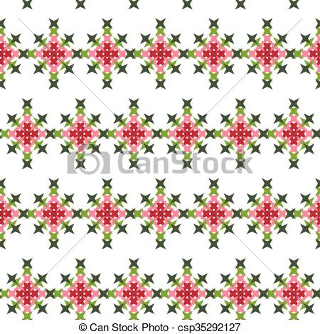 Abstract clipart embroidery Illustration Abstract Stitch Cross csp35292127