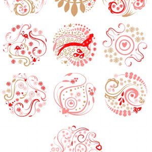 Abstract clipart embroidery More  Set for Semi