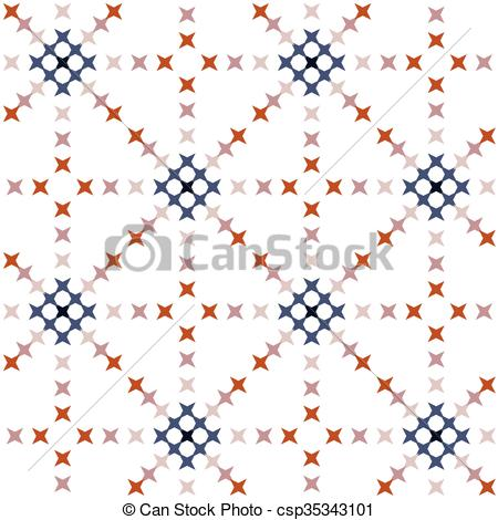 Abstract clipart embroidery Clipart Abstract Stitch Cross csp35343101