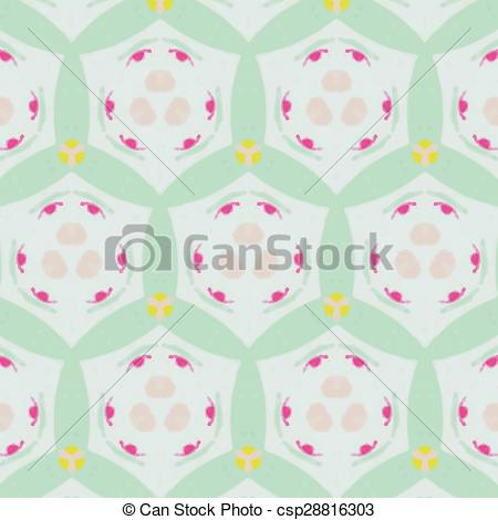 Abstract clipart feminine Textiles abstract for Vector