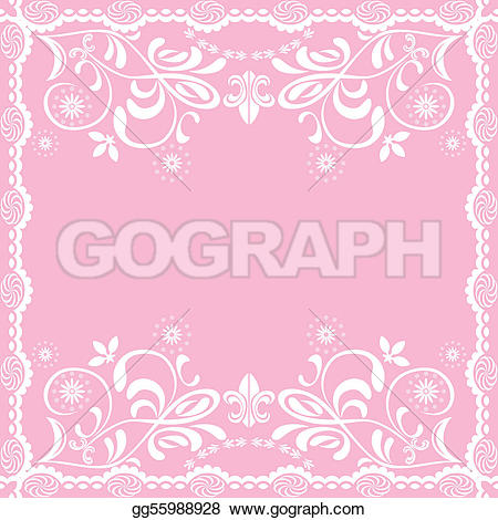 Abstract clipart feminine Clipart pink background gg55988928 Vector