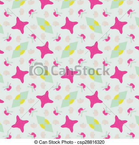 Abstract clipart feminine Textiles abstract for Vector Illustration