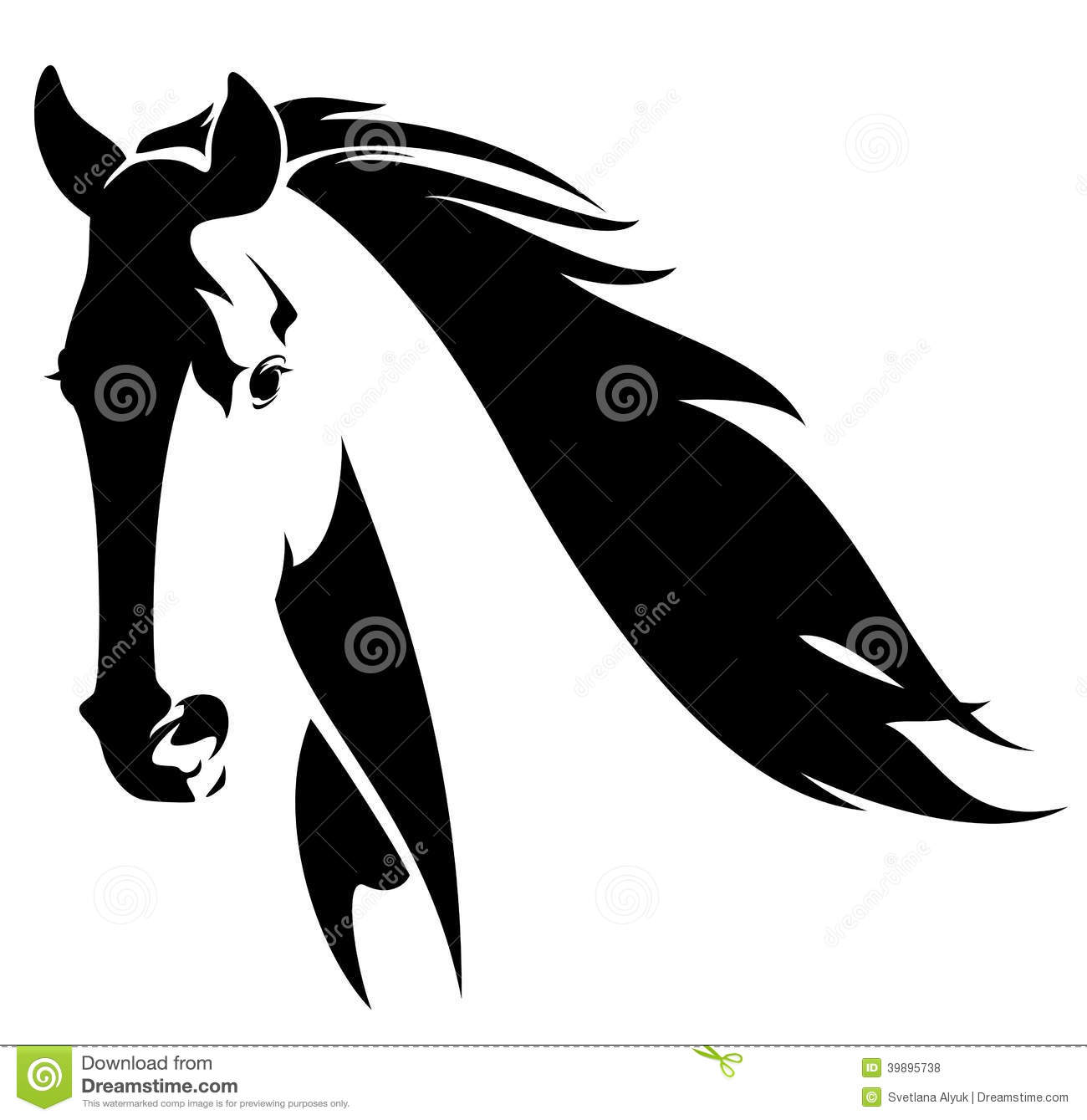 Abstract clipart head Head Clipart Abstract Horse