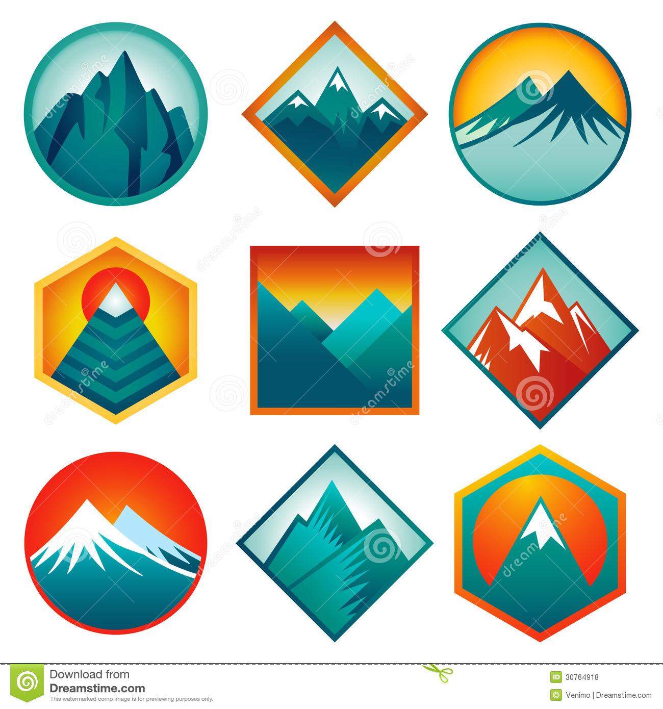 Abstract clipart mountain Clipart Clipart Logo Abstract Logo