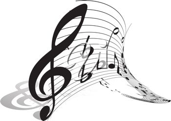Musical clipart insturment Abstract music picture of piece