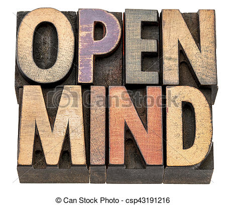 Abstract clipart open mind Mind in type mind type